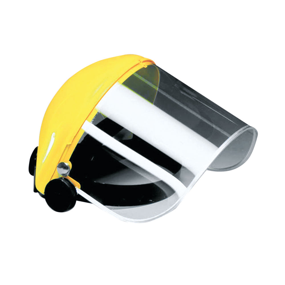 JSP Protective Face Shield Brow Guard Yellow and Clear AFA011-130-200