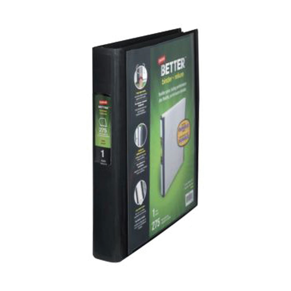 Staples Better 4 Ring Binder A4 40mm Black 275 Sheets 8850923
