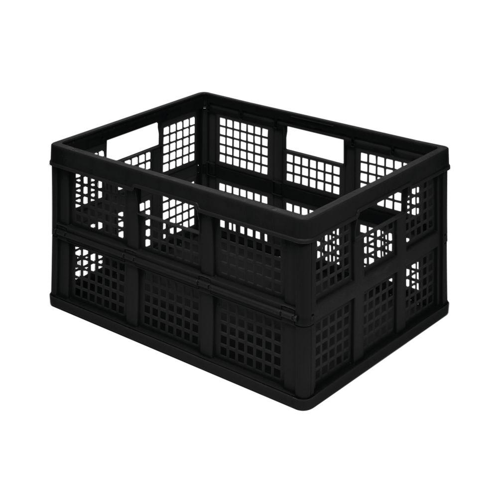 Really Useful 45L Folding Storage Crate Black 45FBK