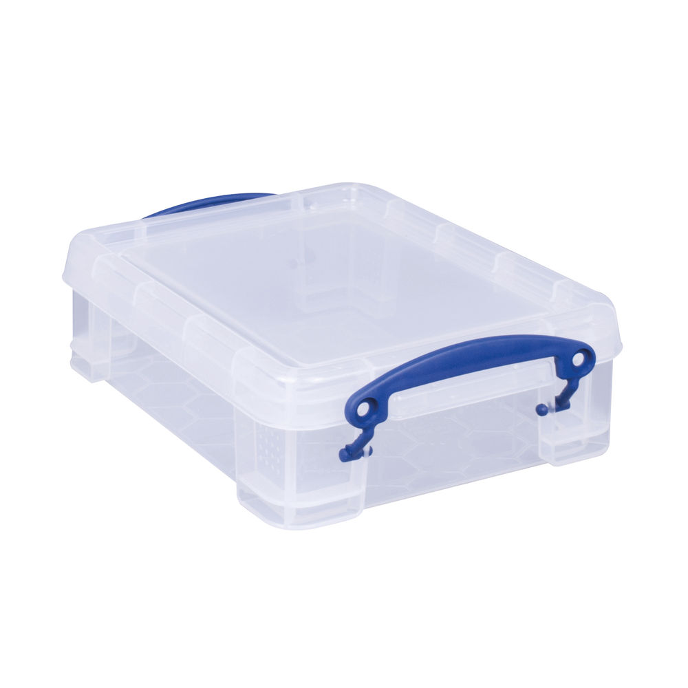 Really Useful 1.75L Plastic Storage Box 245 x 180 x 70mm Clear 1.75C