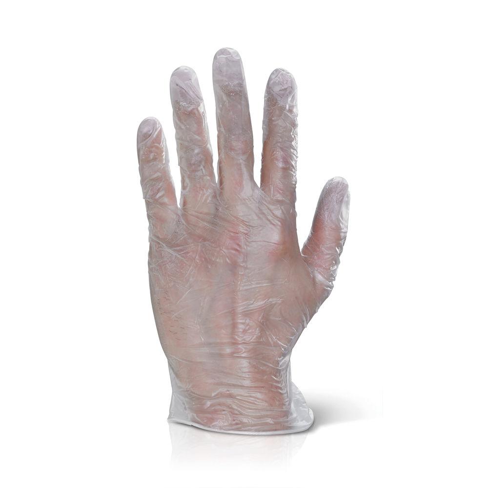 Click PF Vinyl Disposable Gloves Clear Medium (Pack of 100) VDGPFM