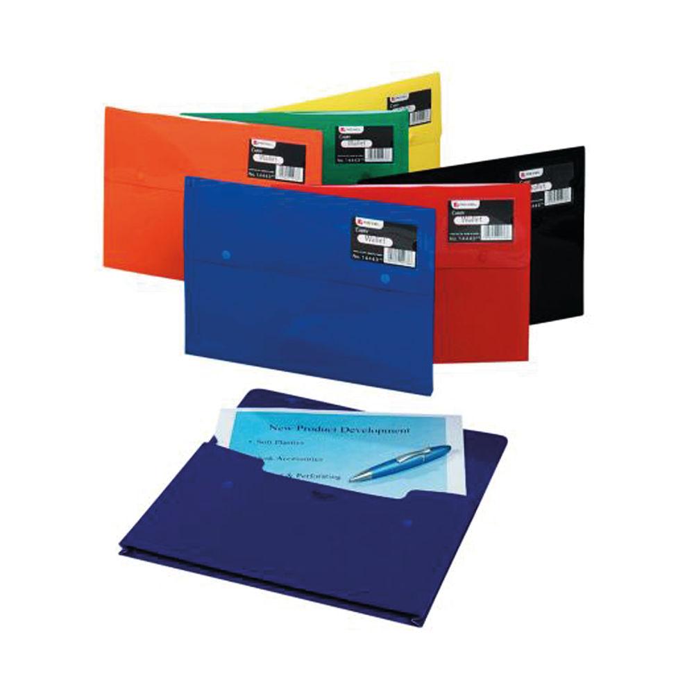 Rexel Popper Folder A4 240x332x13mm Opaque Finish Polypropylene Expandable Gusset Assorted 14443AS
