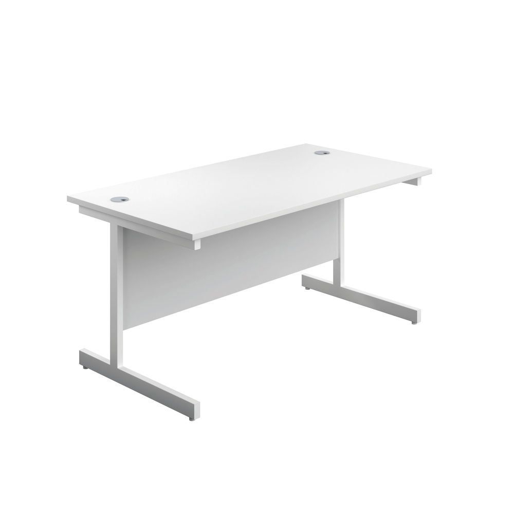 Jemini 1800x600mm White/White Single Rectangular Desk
