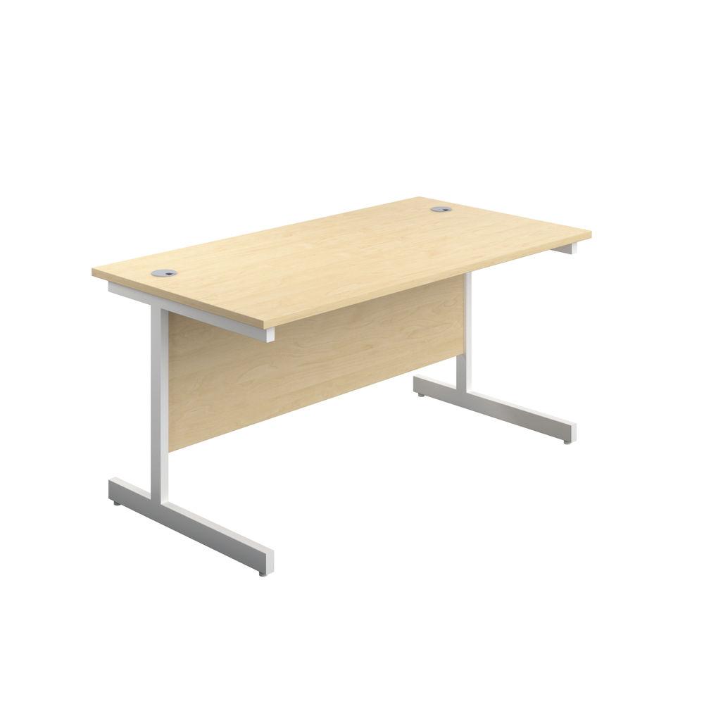 Jemini 1800x600mm Maple/White Single Rectangular Desk