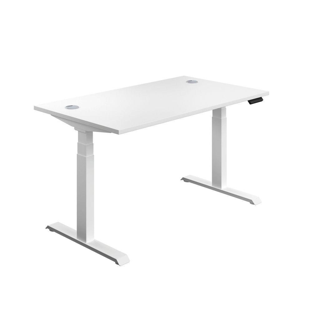 Jemini 1400mm White/White Sit Stand Desk