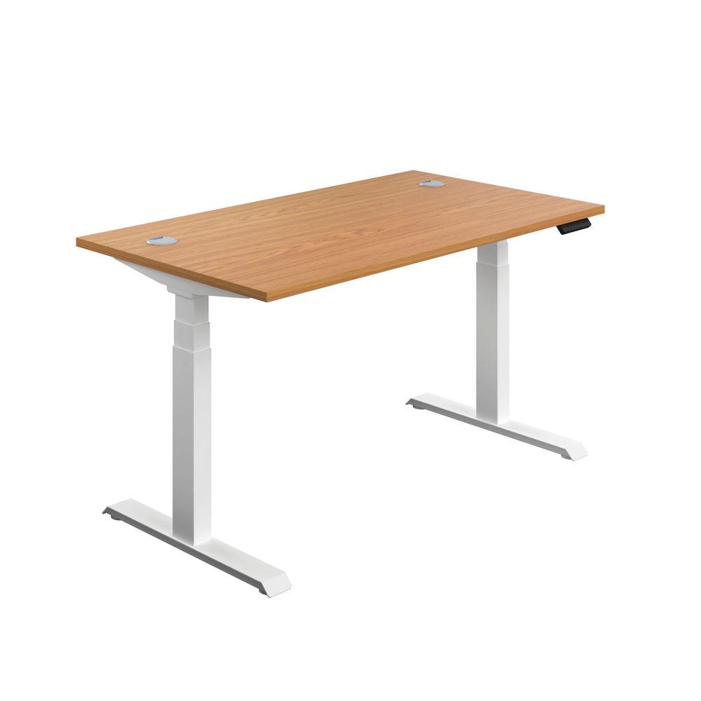 Jemini 1600mm Nova Oak/White Sit Stand Desk