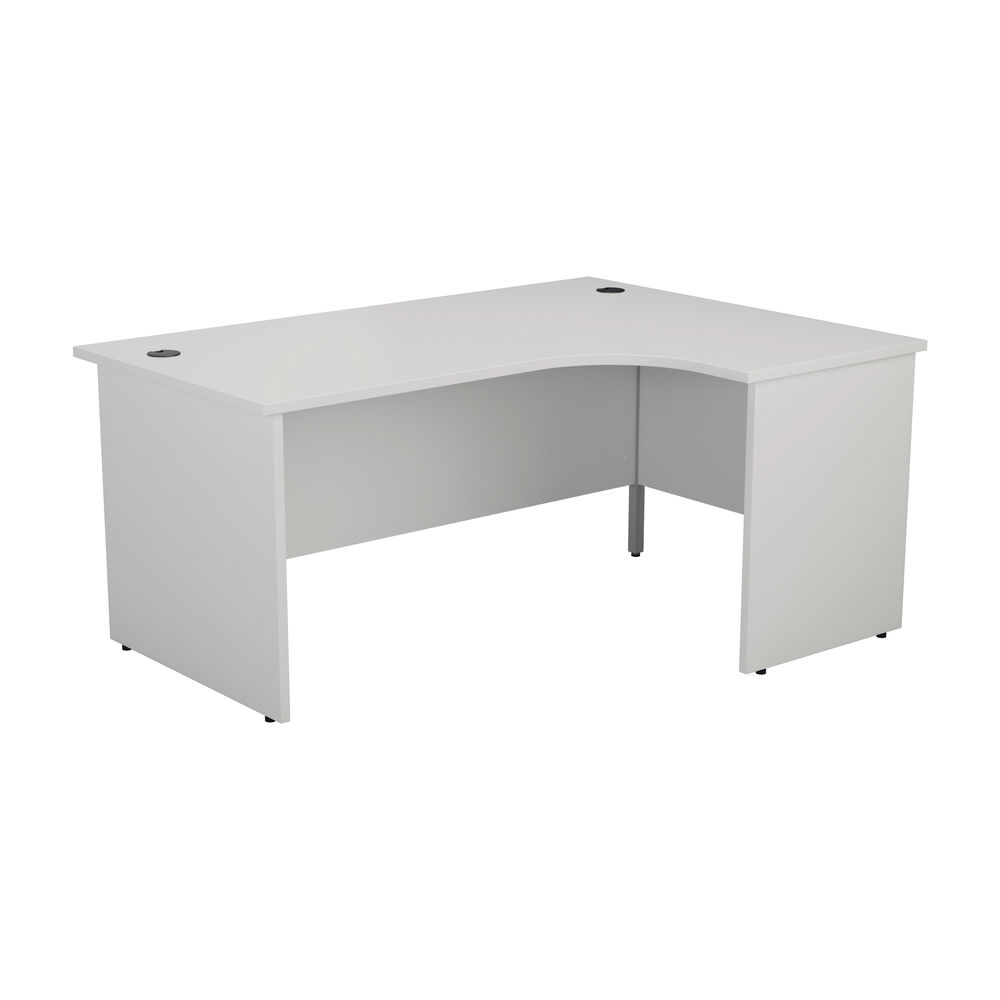 Jemini 1800mm White Right Hand Radial Panel End Desk