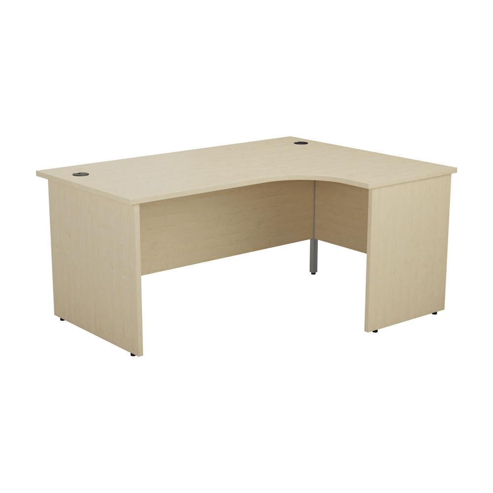 Jemini 1800mm Maple Right Hand Radial Panel End Desk