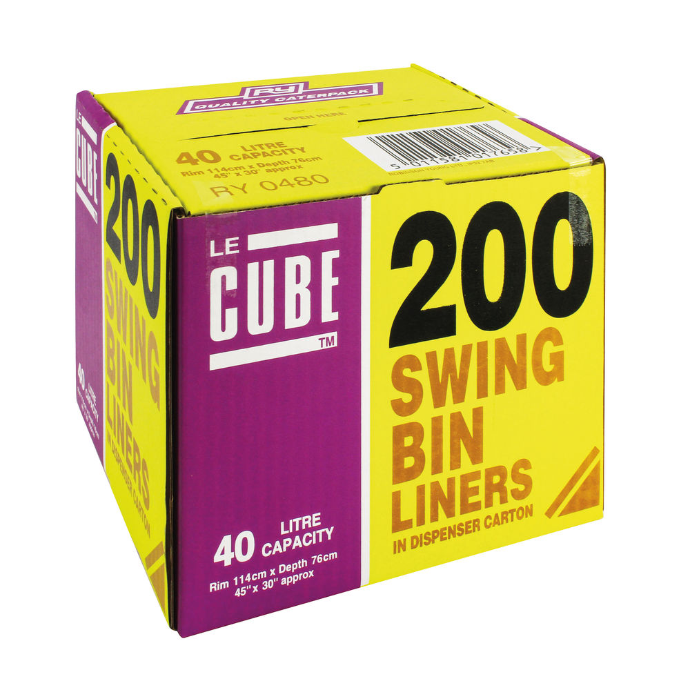 Le Cube Swing Bin Liners, Pack of 200 - 0480