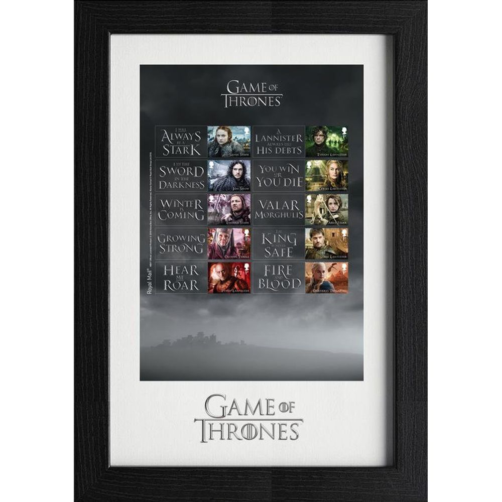 Game of Thrones Framed Collectors Sheet - N3116