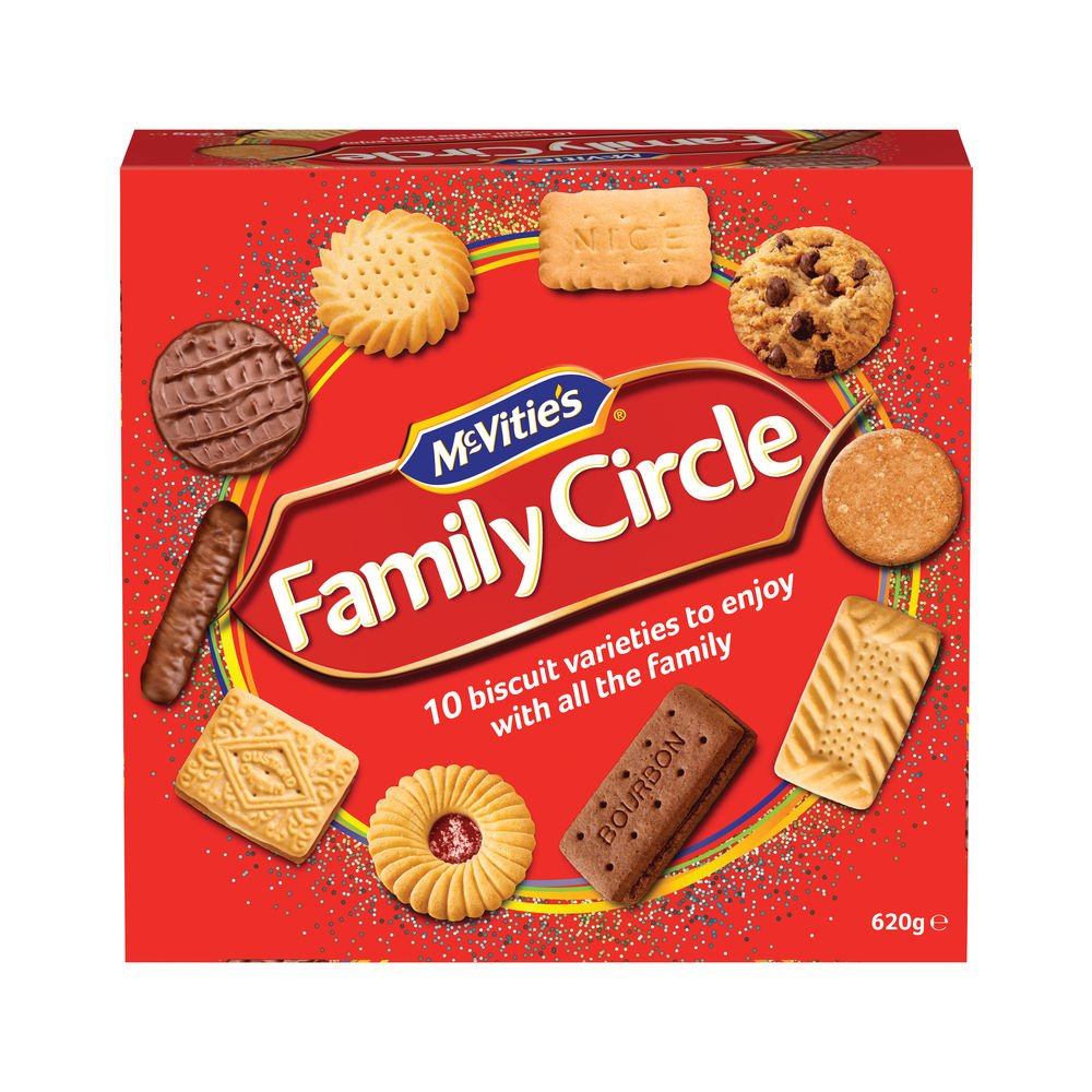 Crawford's Family Circle Assorted Biscuits, 670g - A07942