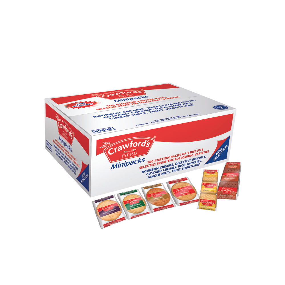 Crawford's Individual Mini Pack Selection of Biscuits - A06059