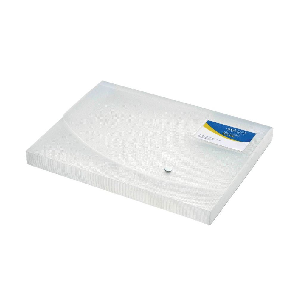 Rapesco A4 Clear Rigid Wallet Box Files 25mm- HT17035