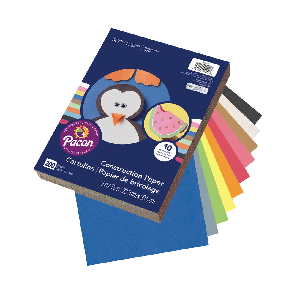 A4+ Assorted Construction Paper (Pack of 200) P0094450
