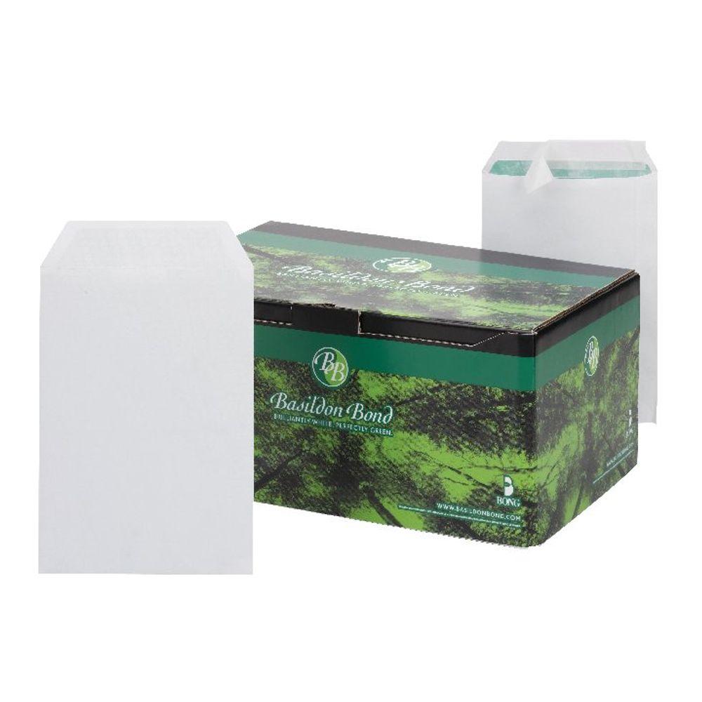 Basildon Bond C5 White Plain Pocket Envelopes, Pack of 500 - L80118