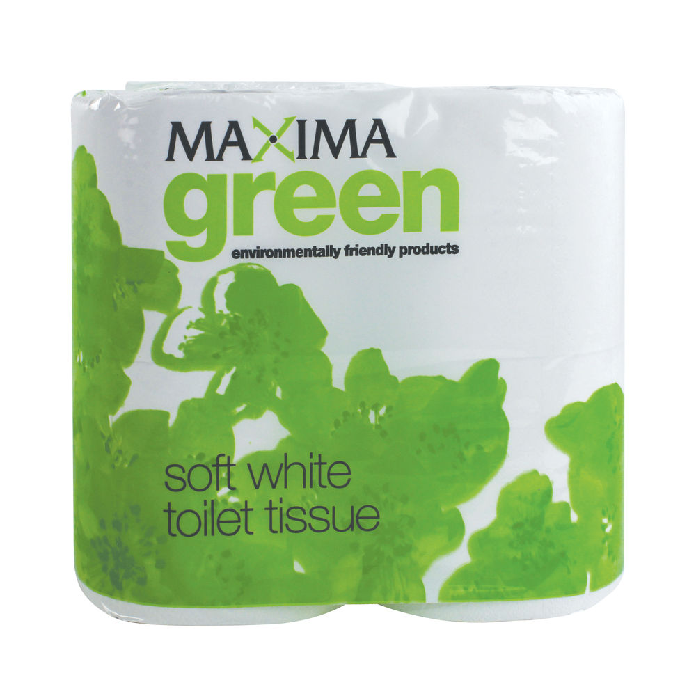 Maxima Green White 2-Ply Toilet Rolls, Pack of 36 - VMAX320