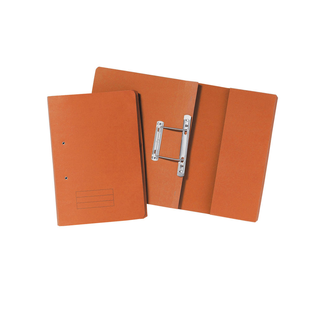 Orange Foolscap 285gsm Pocket Spiral Files, Pack of 25 - TPFM-ORGZ
