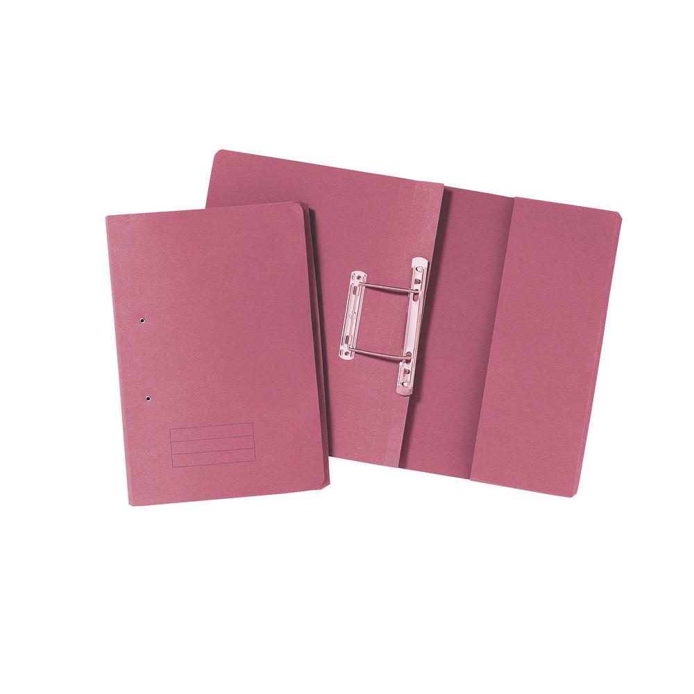 Pink Foolscap 285gsm Pocket Spiral Files, Pack of 25 - TPFM-PNKZ