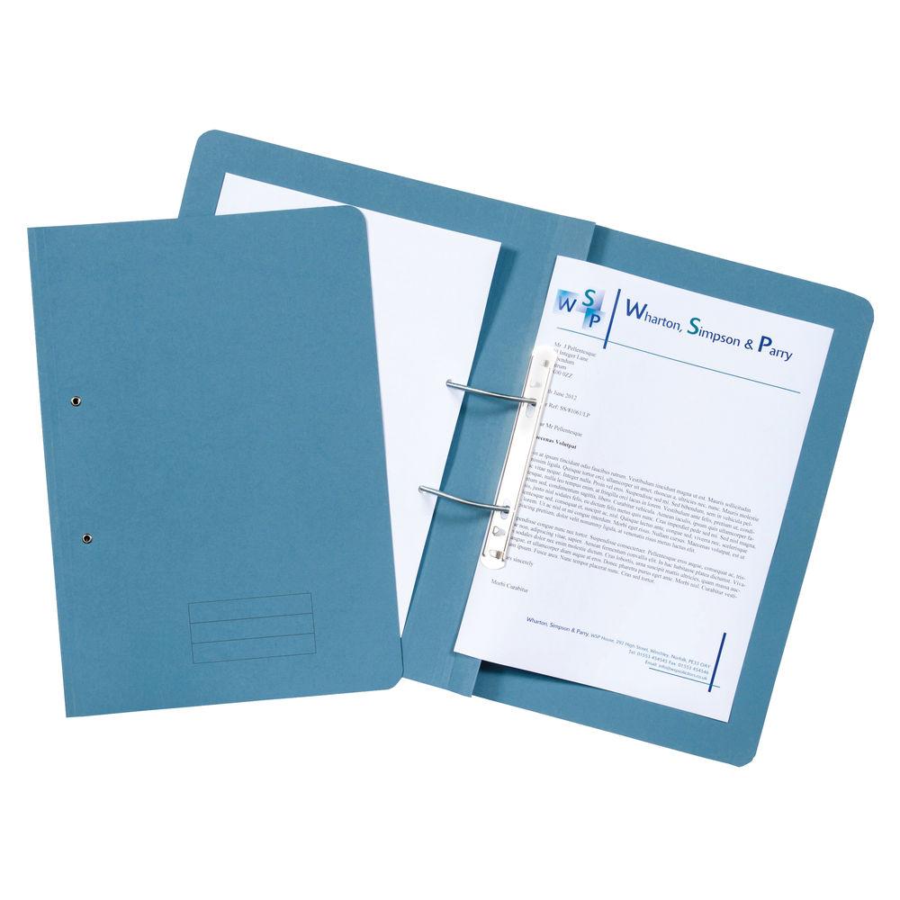 Blue 285gsm Foolscap Spiral Files, Pack of 50 - TFM50-BLUZ