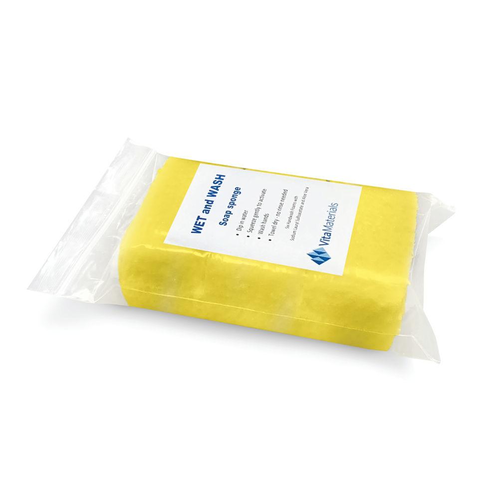 Wet&Wash Pre-Soaped Hand Sponges (Pack of 6) WW120BUK