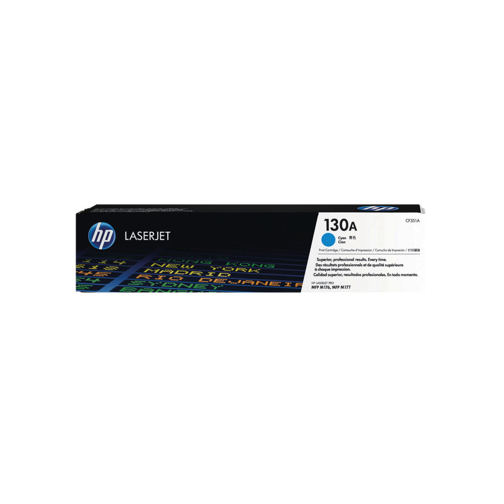 HP 130A Cyan Laserjet Toner Cartridge CF351A