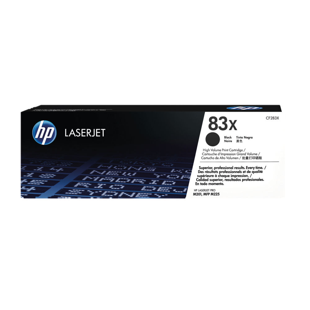 HP 83X Black High Yield Laserjet Toner Cartridge CF283X