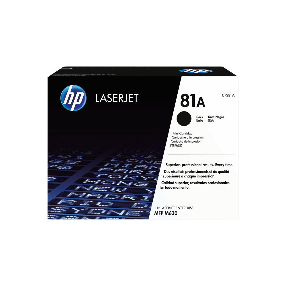 HP 81A Black Toner Cartridge - CF281A