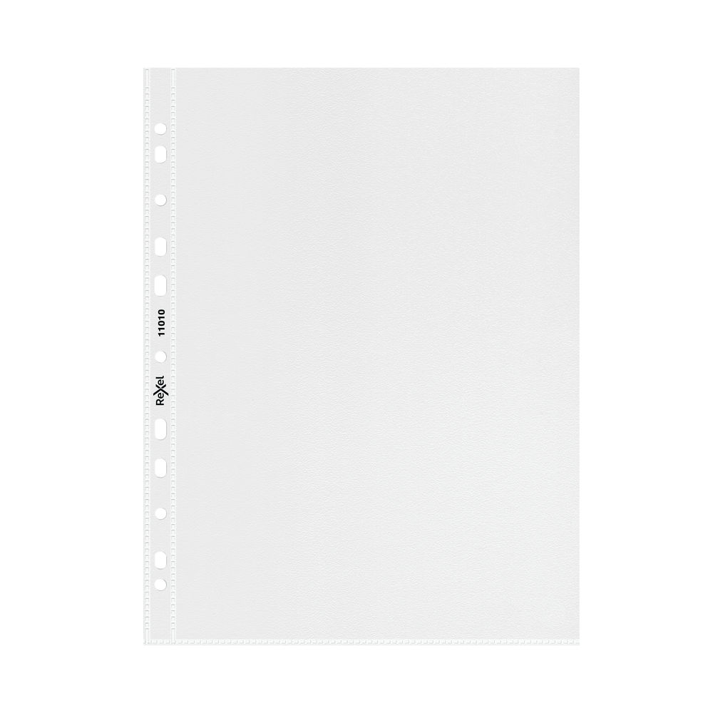 Rexel Superfine Clear A5 Plastic Punched Pockets - Pack of 20 - 11010