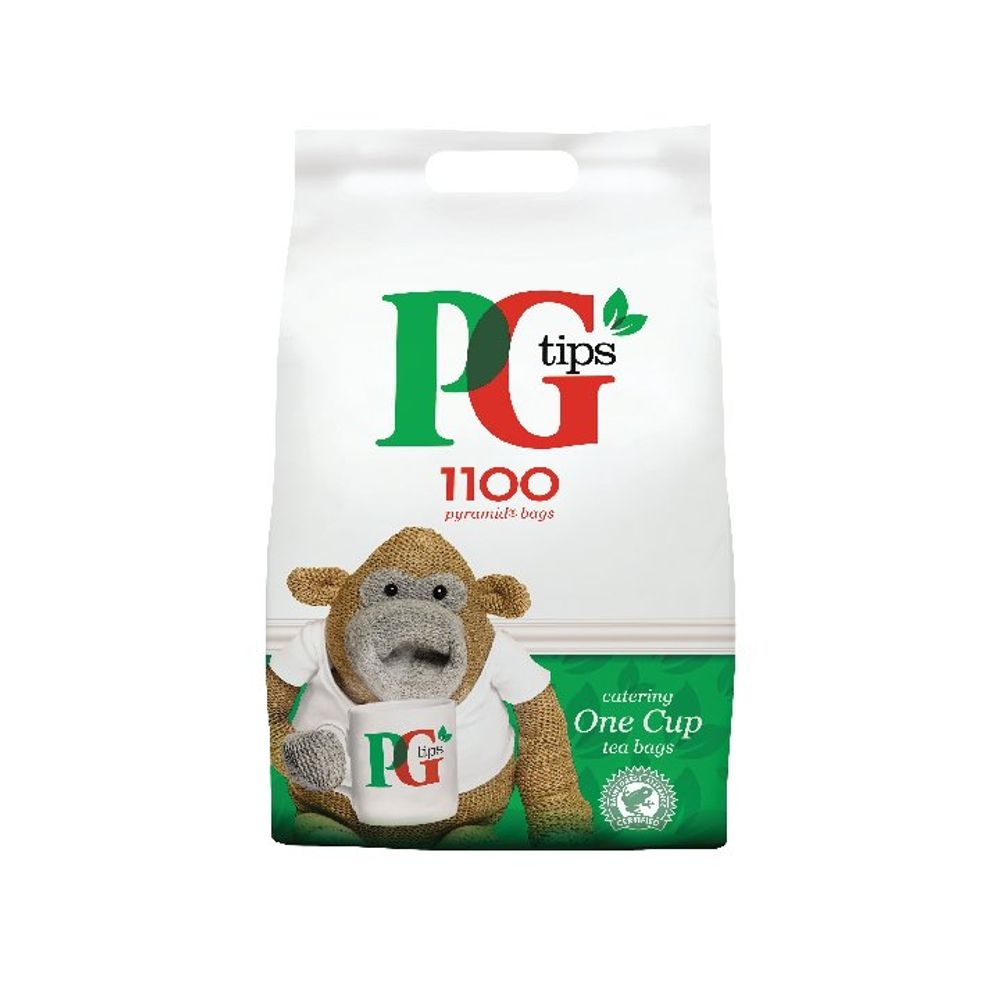 PG Tips One Cup Tea Bags, Pack of 1100 - 17948501