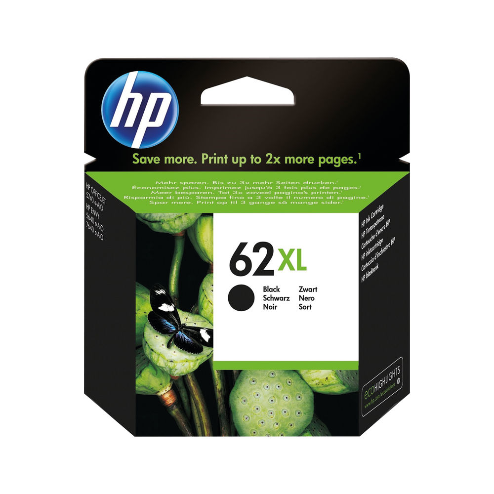 HP 62XL Black Ink Cartridge | C2P05AE