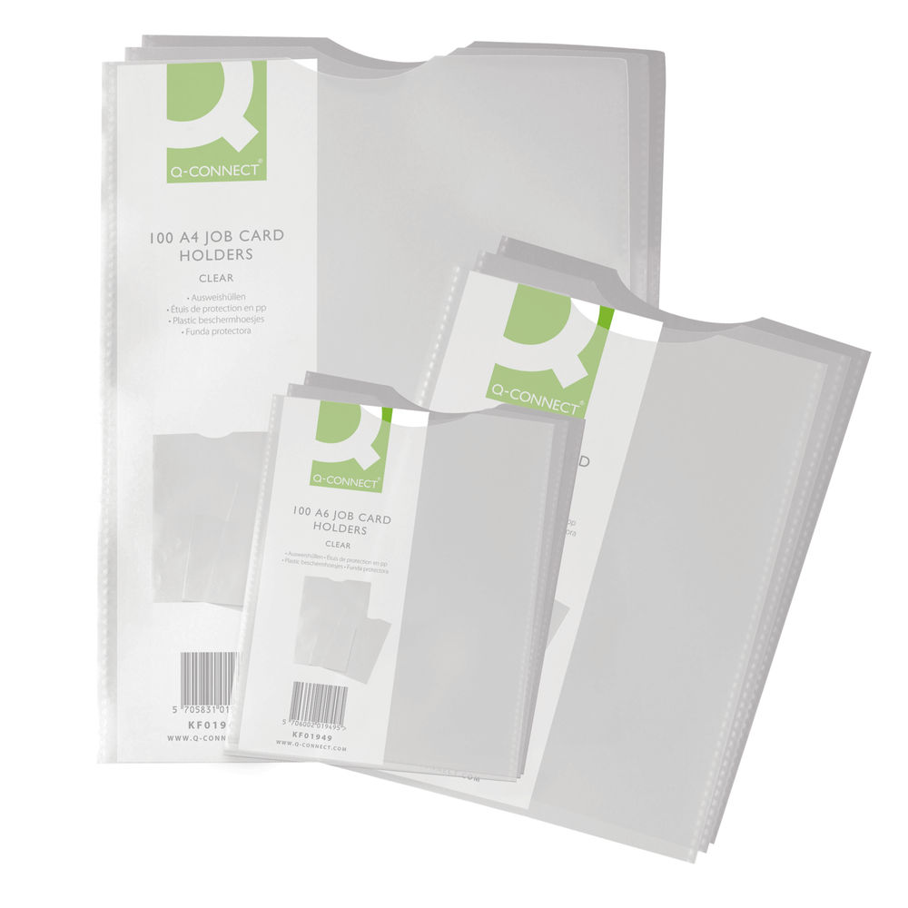 Q-Connect Card Holder Polypropylene A5 (Pack of 100) KF01948