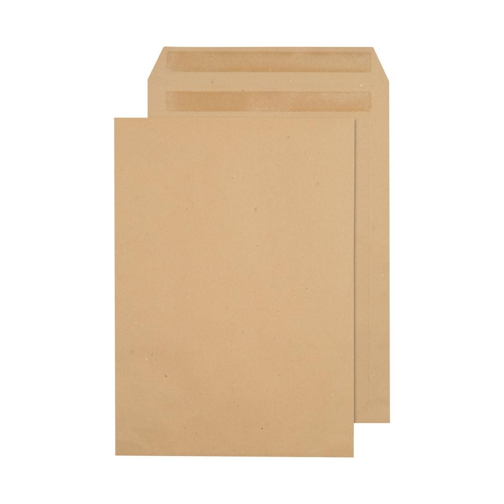 Q-Connect Manilla C4 Plain Self Seal Envelopes 90gsm, Pack of 250 - 1D25ST