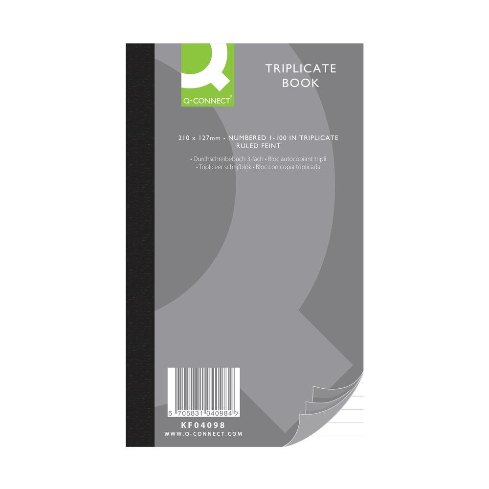 Q-Connect 210 x 127mm Triplicate Book - KF04098