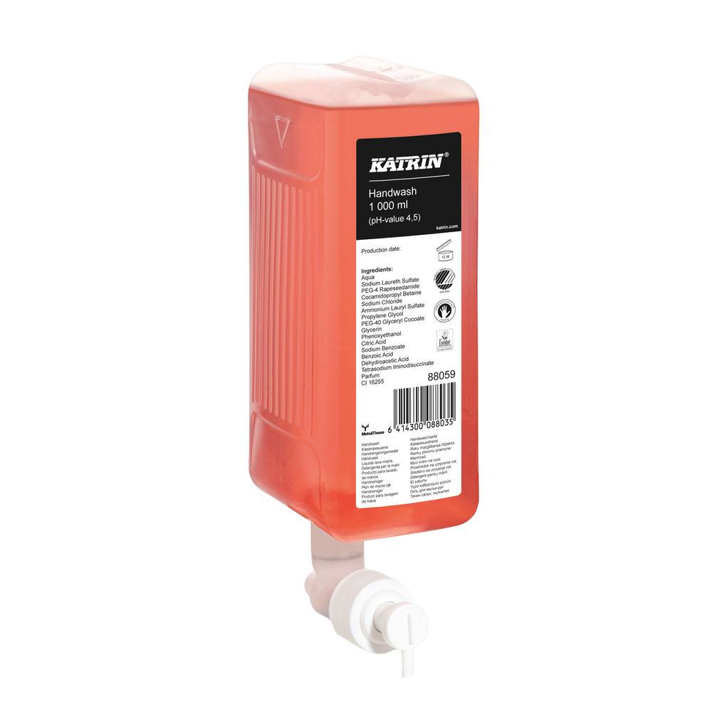 Katrin Liquid Hand Wash Soap 1000ml (Pack of 6) 47420