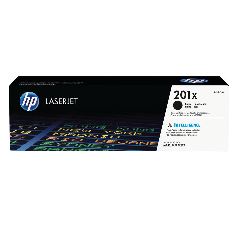 HP 201X Black High Yield Laserjet Toner Cartridge CF400X