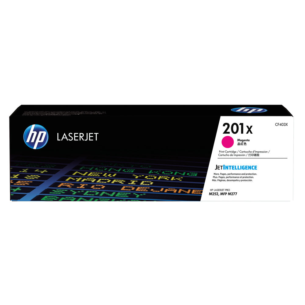 HP 201X Magenta High Yield Laserjet Toner Cartridge CF403X