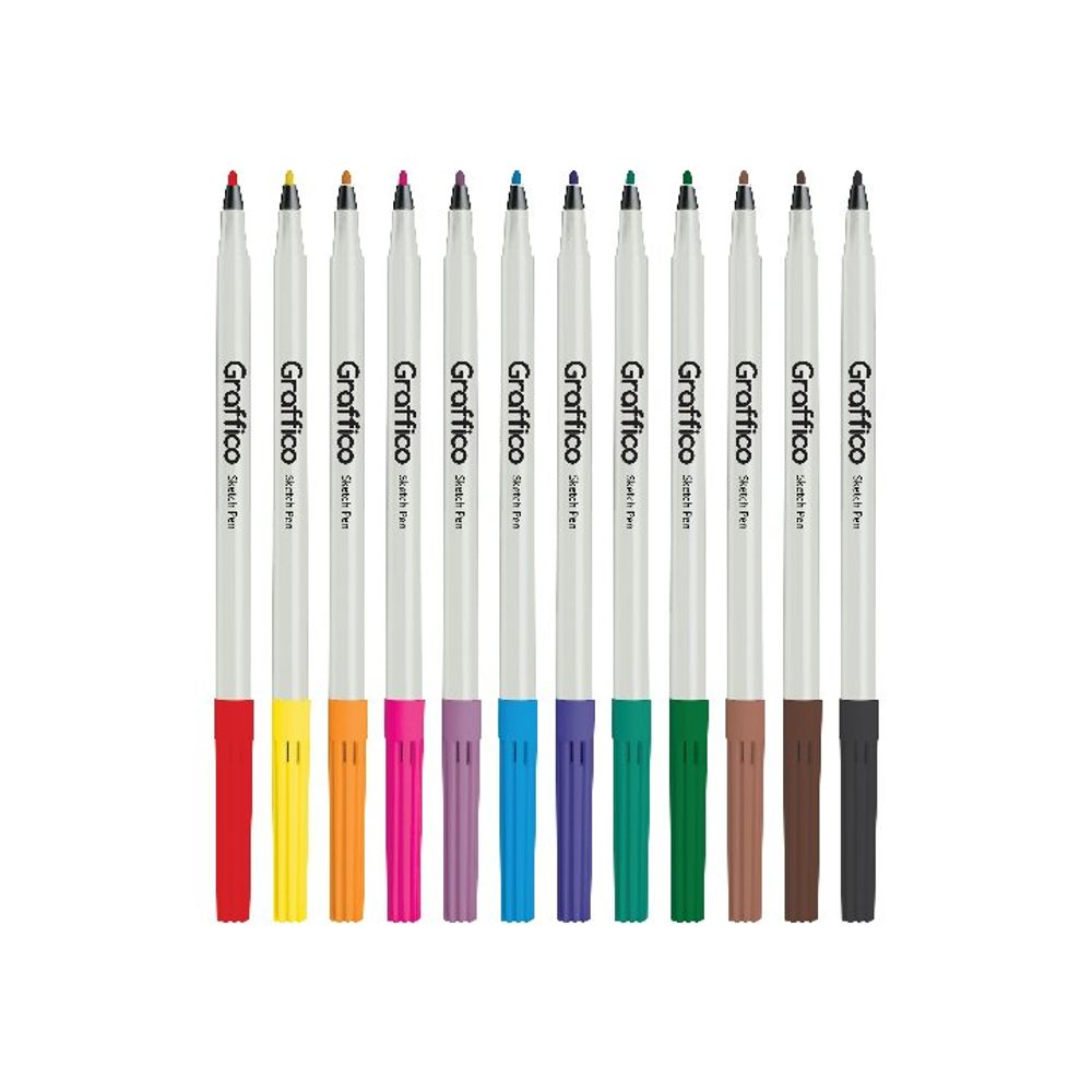 Graffico Assorted Slim Colouring Pens, Pack of 576 - LL04961