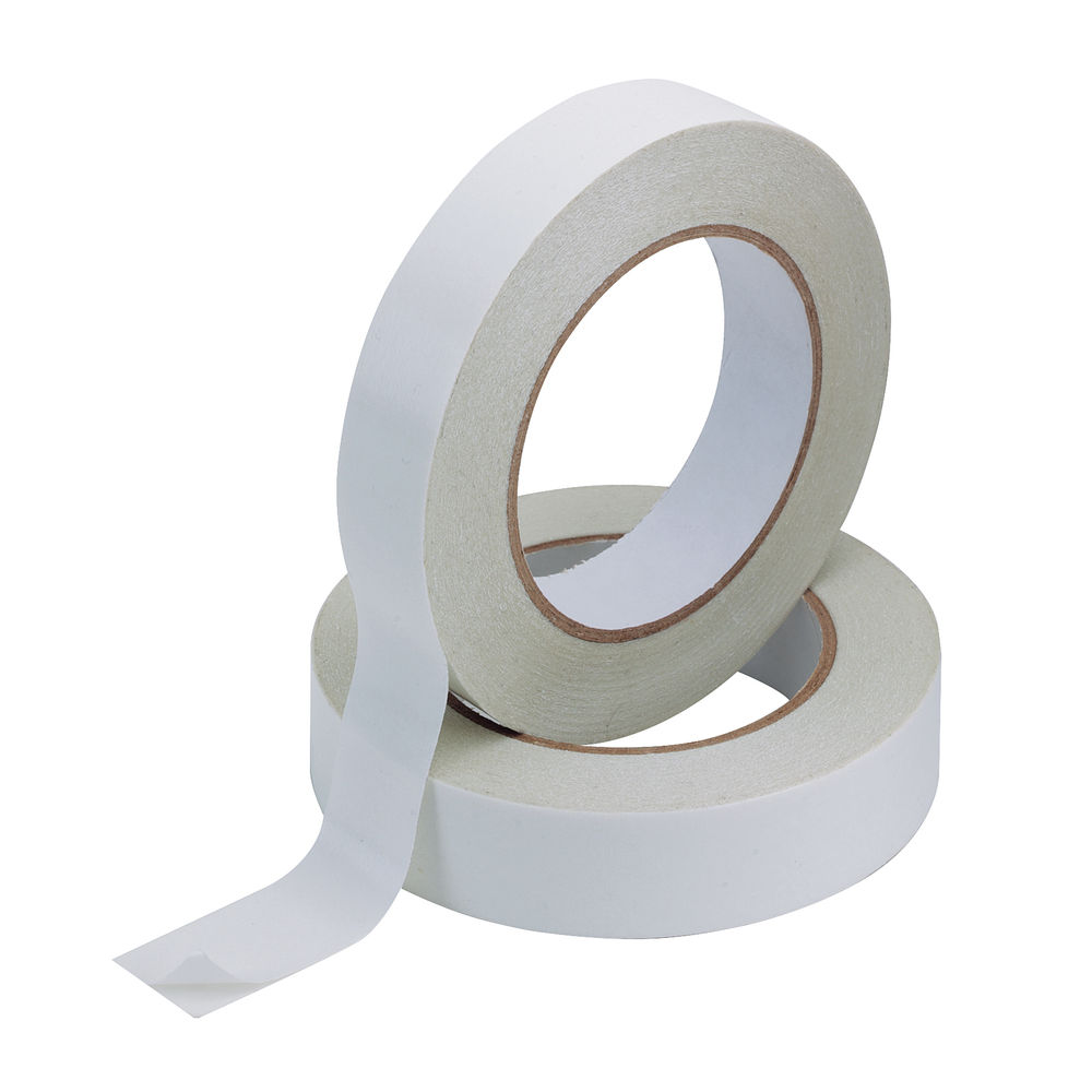 Q-Connect 25mm x 33m Double Sided Tape, Pack of 6 - KF02221