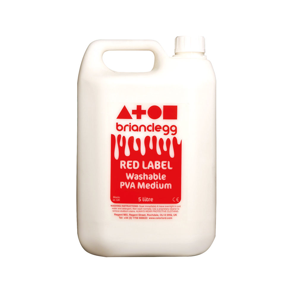 Brian Clegg 5 Litre PVA Glue Red Label - GL01