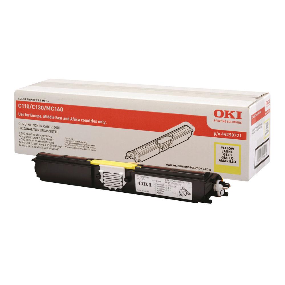 Oki Yellow Toner Cartridge - High Capacity 44250721