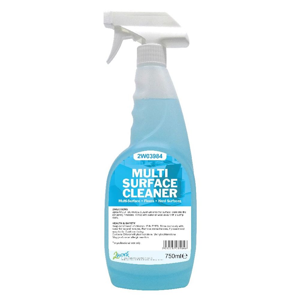 2Work Multi-Surface Trigger Spray 750ml (Pack of 6) - 497 PACK