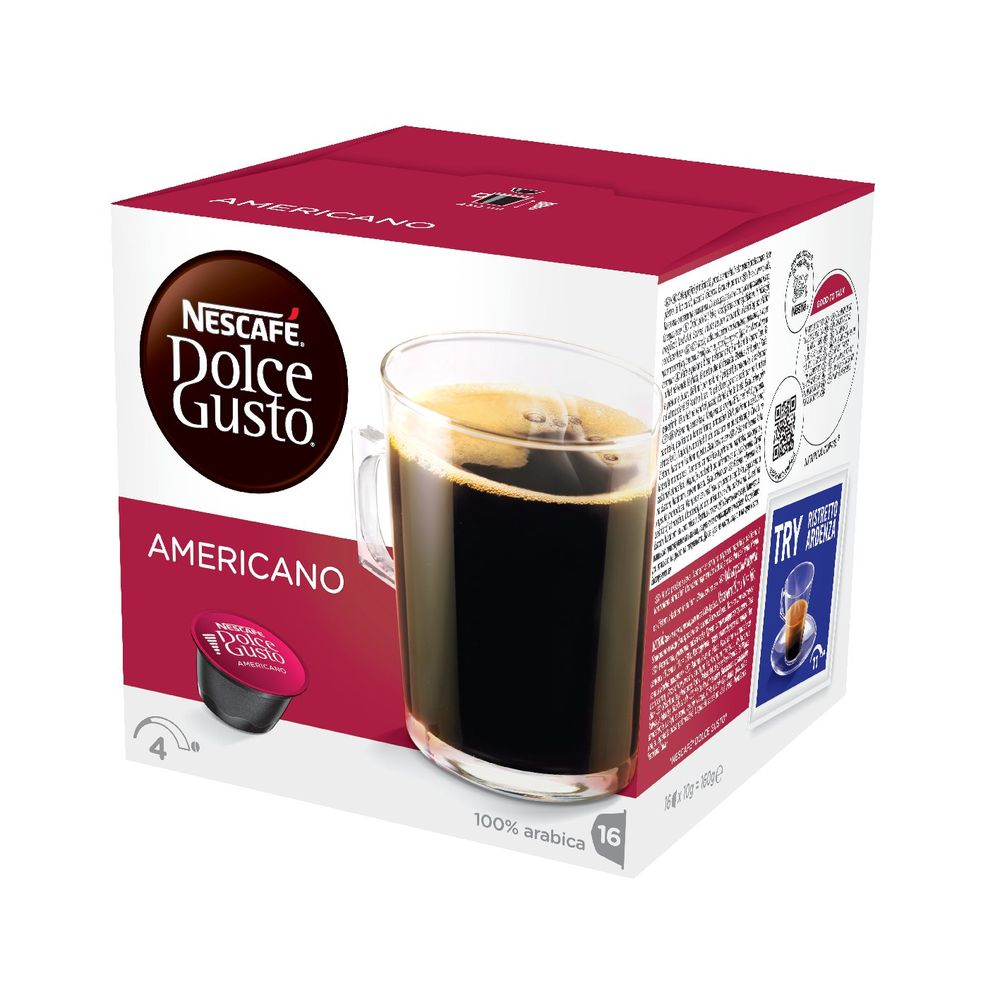 Nescafe Dolce Gusto Caffe Americano Capsules, Pack of 48 - 12117294