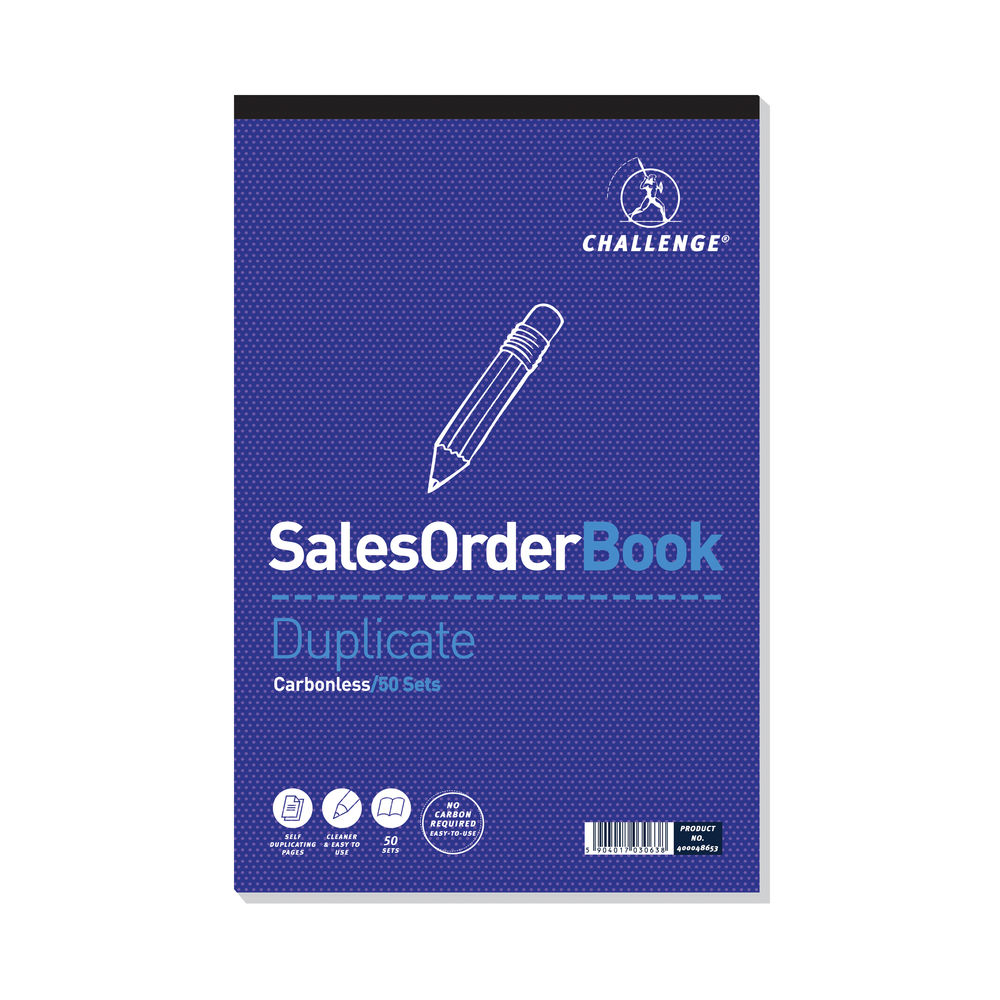 Challenge Duplicate Sales Order Pad Carbonless 297 x 195mm 400048653