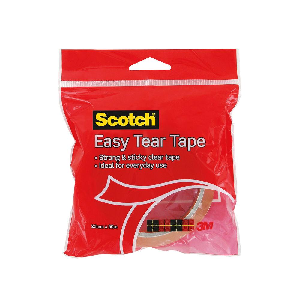 3M Scotch Easy Tear Clear Everyday Tape Single Roll GT500077224