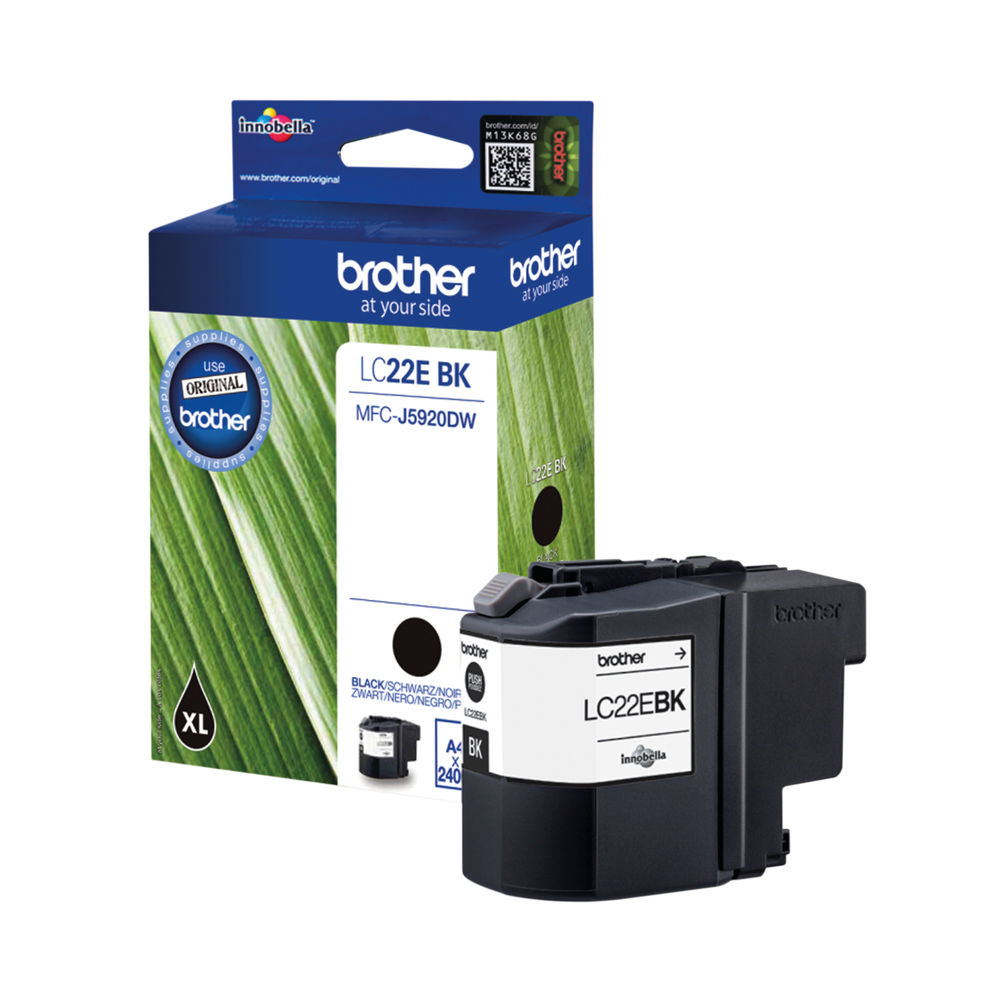 Brother Black LC22EBK Inkjet Cartridge