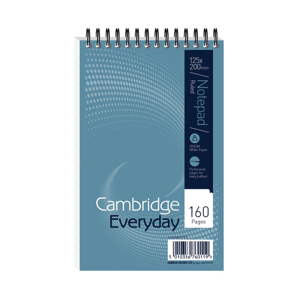 Cambridge 125 x 200mm Wirebound Notebook, Pack of 10 - JDM76011