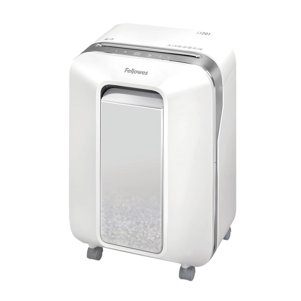 Fellowes LX201 White Micro Cut Shredder – 5160101