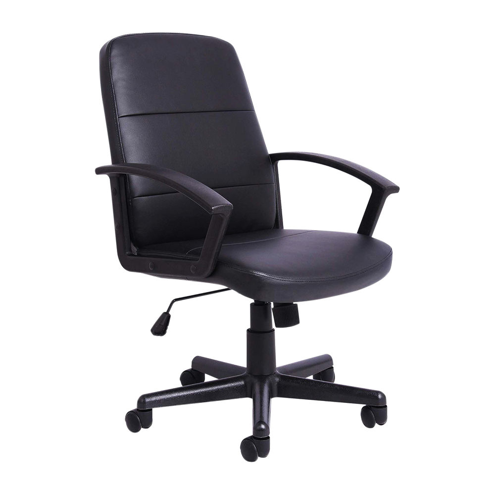 First Black PU Leather Manager Office Chair