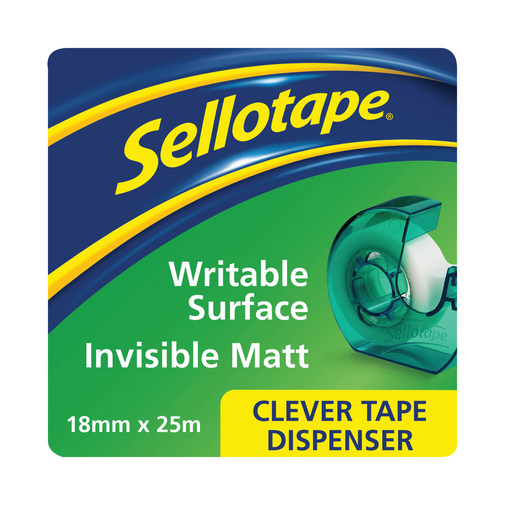 Sellotape Clever Invisible Tape and Dispenser 18mmx25m (Pack of 7) 1766004