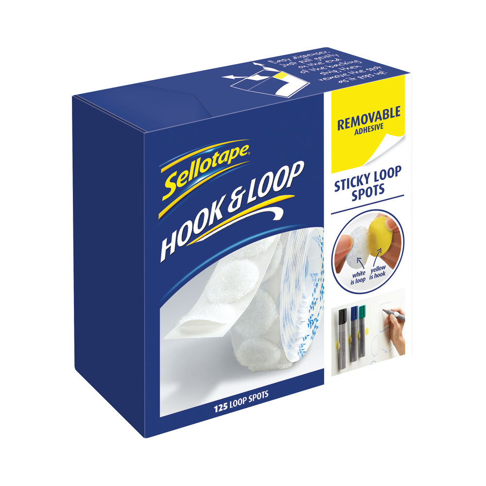 Sellotape Sticky Loop Spots Removable (Pack of 125) 2055790